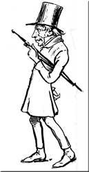 Sören Kierkegaard - Karikatur