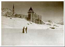 Eisläufer in St. Moritz