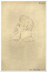Zeichnung von Kierkegaard